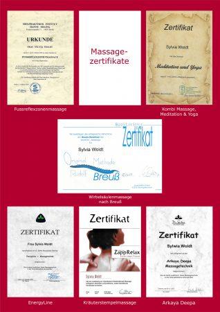 Massagezertifikate