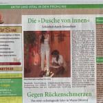 """Die """"Dusche von Innen"""" (Blitz am Sonntag, März 2015)"""